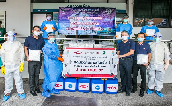 PPE donation in Rayong